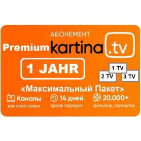 12 Monate Kartina.TV «Premium» Abonnement - ohne Vertragsbindung  (Vorkasse/ Paypal/ Visa/ Master Card) SOFORTVERSAND per E-Mail