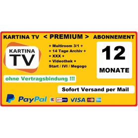 Акция: Kartina.TV «Премиум» пакет русскоязычных каналов сроком на 1 год