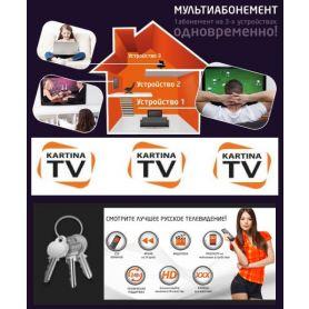 Акция: Kartina.TV «Премиум» пакет русскоязычных каналов сроком на 1 год (основные 10 российских каналов за пределами Европы не показывают)