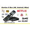 Kartina X - 4K (Android) Set-Top-Box WiFi/WLAN (Multiroom Funktion: auch als 2. oder 3. Gerät bei nur einem Abo)