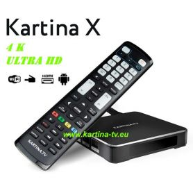 Kartina X - 4K Lan/ Wlan Receiver (Android) + Kartina TV Abonnement für 12 Monate «Premium-Paket» (12 x 16,50€ / Monat)