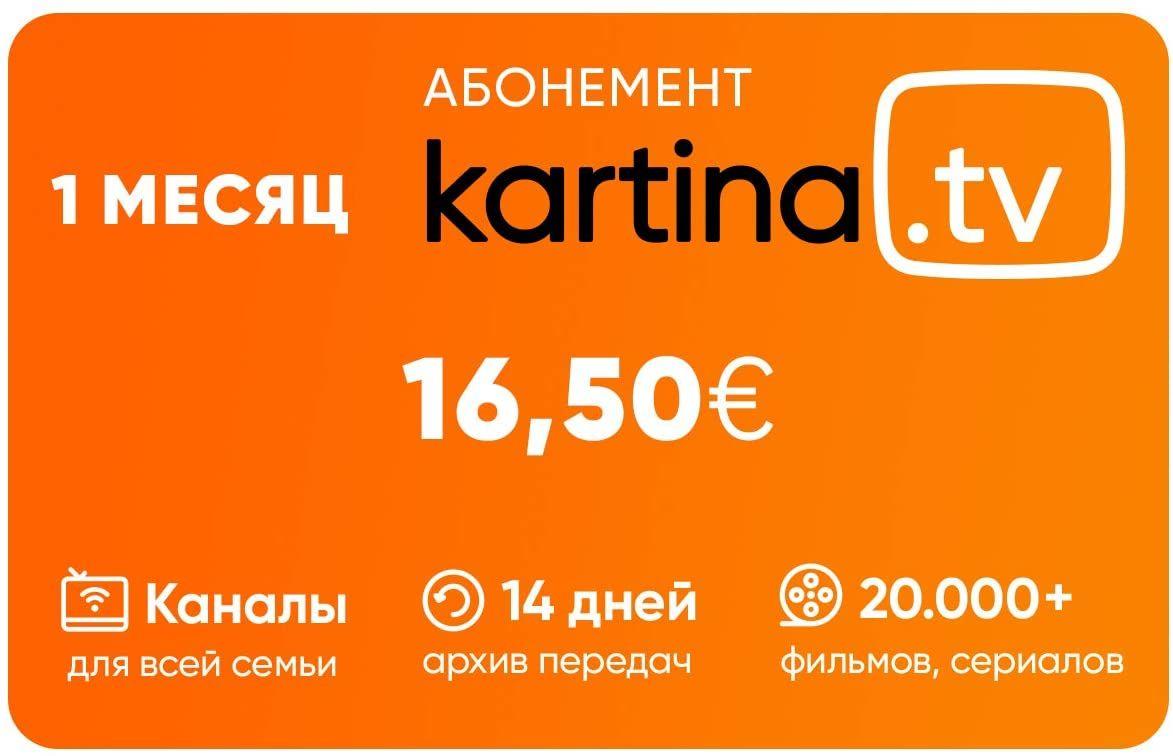Kartina.TV Abo 1 Monat 1650