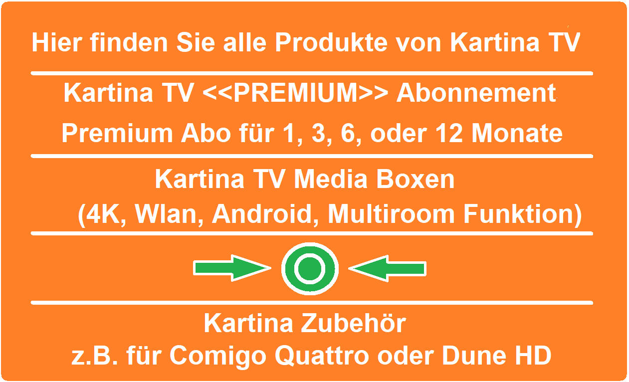 Kartina TV Abonnement Mediaplayer KartinaX KartinaS