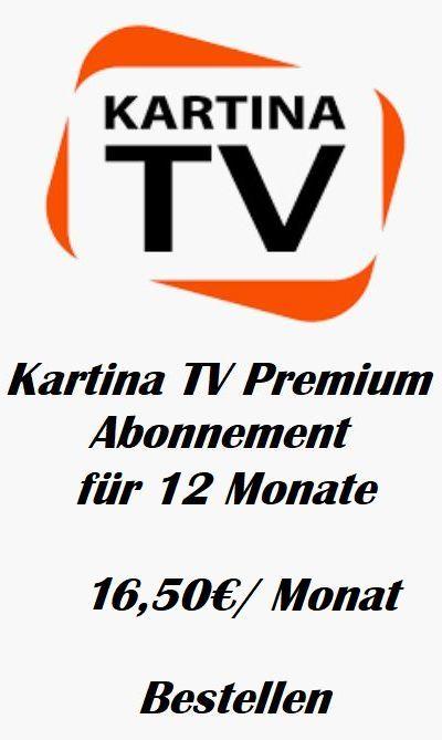 KartinaTV Premium Abonnement fuer 12 Monate 16 50Monat Automatischer Verlaengerung