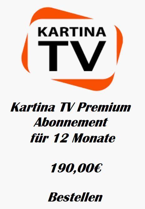 KartinaTV Premium Abonnement fuer 12 Monate Vorauszahlung keine Vertragsbindung