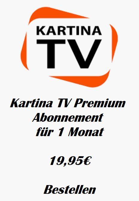 KartinaTV Premium Abonnement fuer 1 Monat Vorauszahlung keine Vertragsbindung