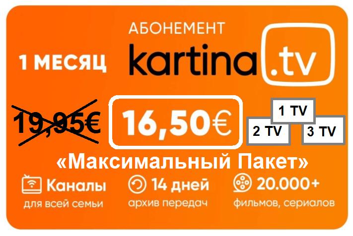 Kartina Abonnement 16.50