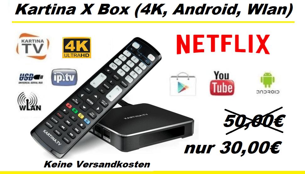 Aktion Kartina X 4K Android nur 30.00