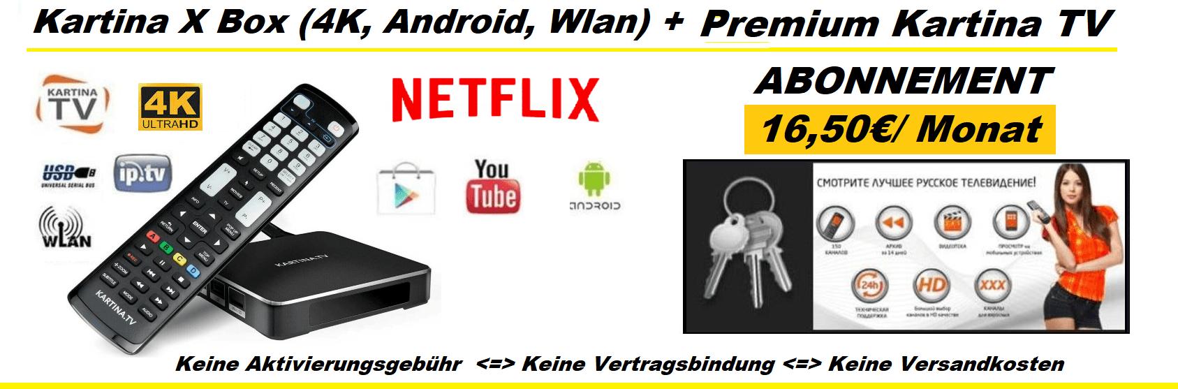 Kartina X 1650 Monat Kartina TV Premium Abonnement