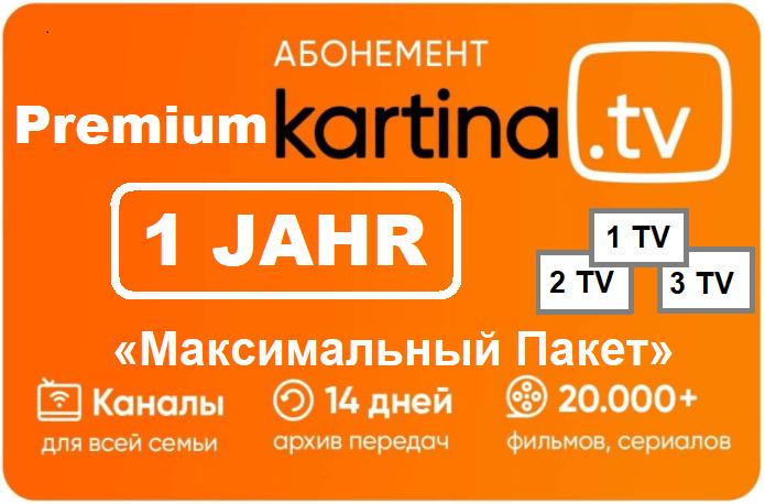 1 Jahr Kartina TV Premium Abo nur 165.00