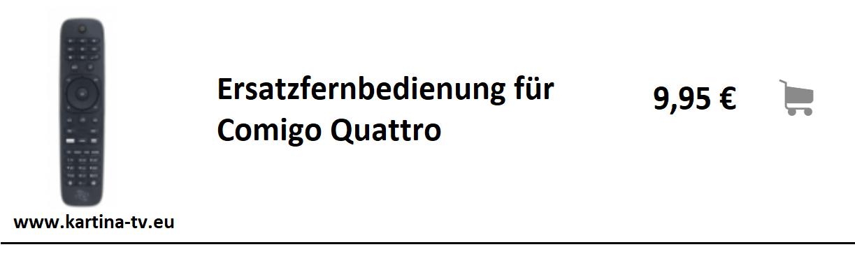 Angebot Ersatzfernbedienung fuer Kartina Quattro