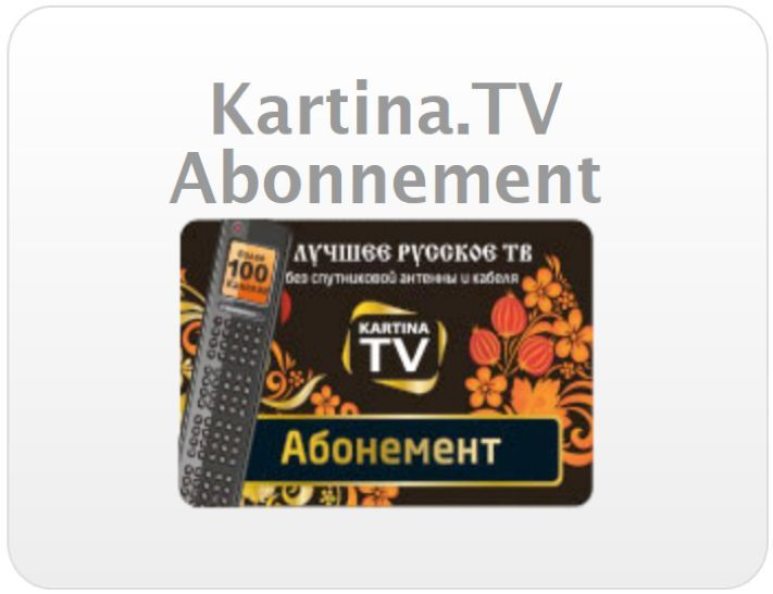 Kartina.TV Premium Abonnement
