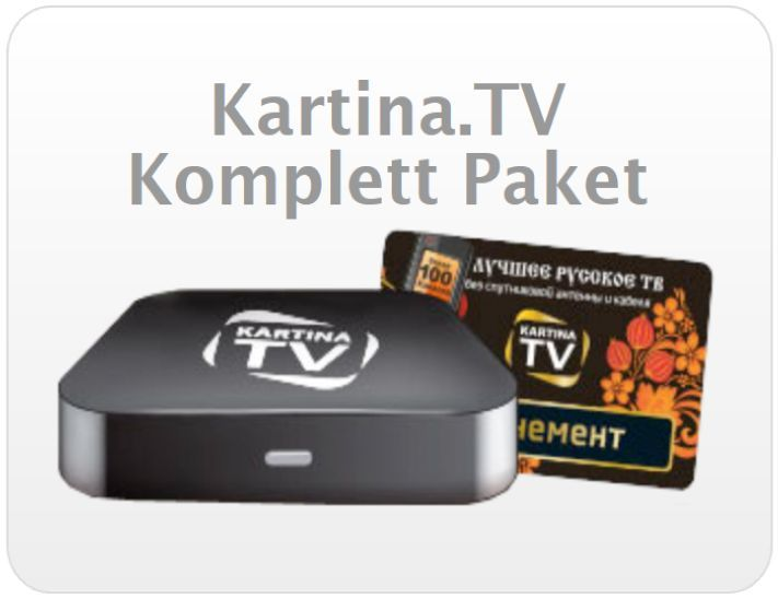 Kartina.TV Premium Abonnement mit Set Top Box