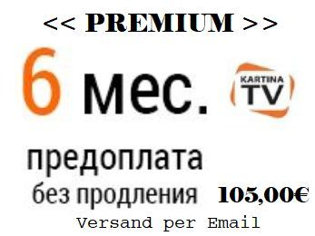 Kartina TV Premium Abonnement fuer 6 Monate