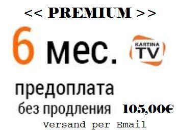 Kartina TV Premium Abonnement fuer 6 Monate
